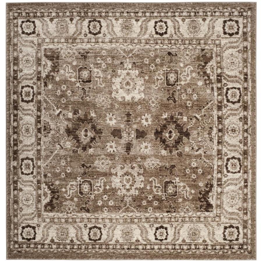 Safavieh Vintage Hamadan Baktiar Taupe Square Indoor Lodge Area Rug (Common: 7 x 7; Actual: 6.6-ft W x 6.6-ft L)