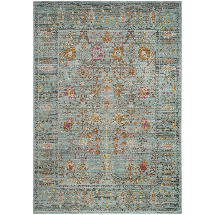 Safavieh Valencia Odessa Steel Blue Indoor Distressed Area Rug (Common: 5 x 8; Actual: 5-ft W x 8-ft L)