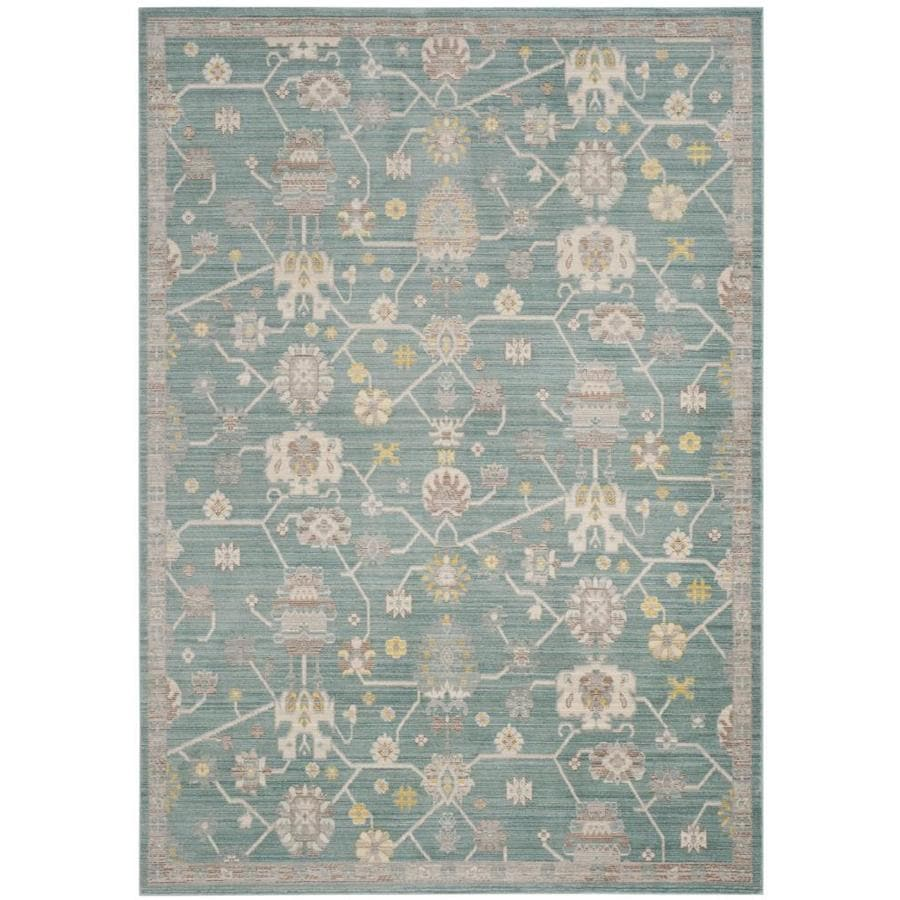 Safavieh Valencia Hollis Steel Blue Rectangular Indoor Machine-Made Distressed Area Rug (Common: 6 x 9; Actual: 6-ft W x 9-ft L)