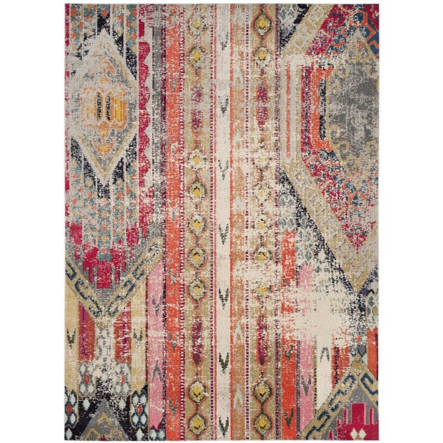 Safavieh Monaco Kolby Light Gray Indoor Distressed Area Rug (Common: 9 x 12; Actual: 9-ft W x 12-ft L)