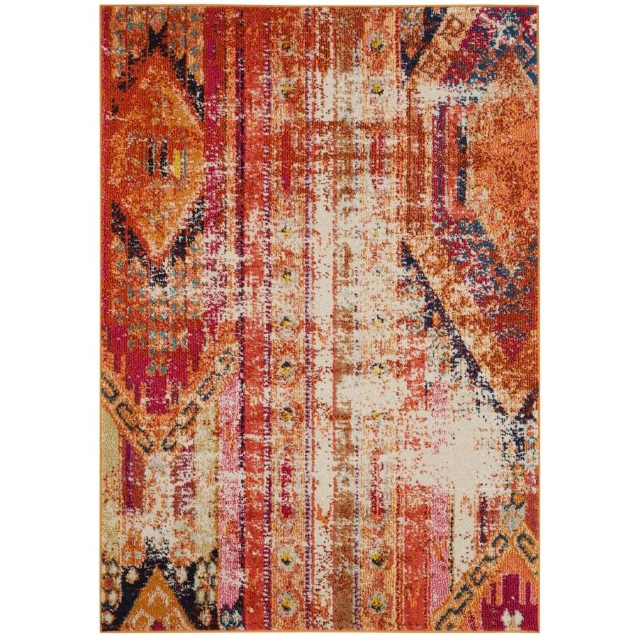 Safavieh Monaco Kolby Orange Rectangular Indoor  Distressed Area Rug (Common: 4 x 6; Actual: 4-ft W x 5.6-ft L)