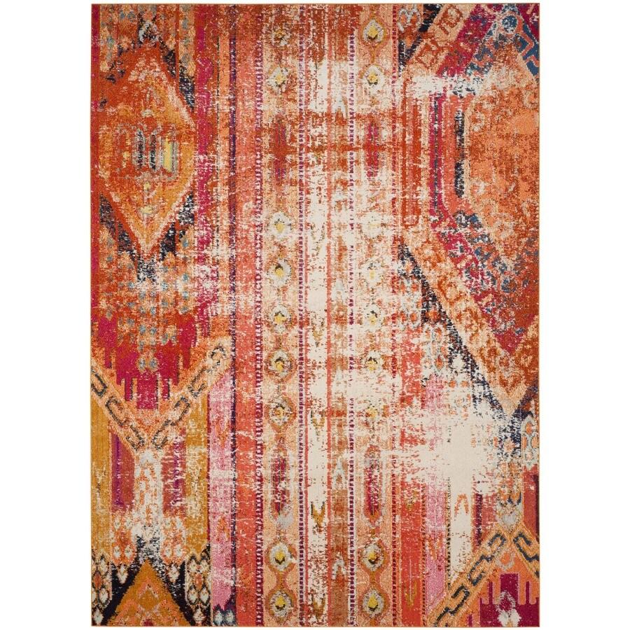 Safavieh Monaco Kolby Orange Indoor Distressed Area Rug (Common: 9 x 12; Actual: 9-ft W x 12-ft L)