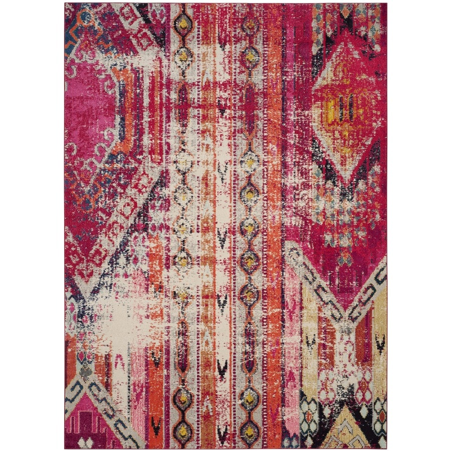 Safavieh Monaco Kolby Magenta Indoor Distressed Area Rug (Common: 8 x 11; Actual: 8-ft W x 11-ft L)