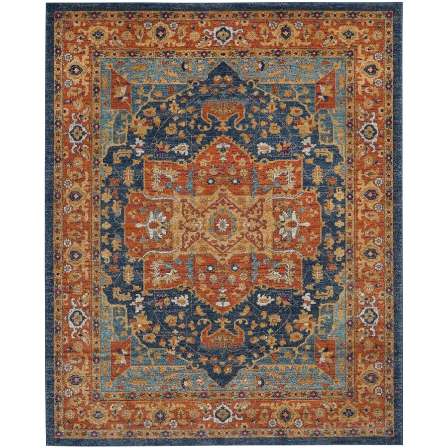 Safavieh Evoke Livia Blue/Orange Indoor Oriental Area Rug (Common: 8 x 10; Actual: 8-ft W x 10-ft L)