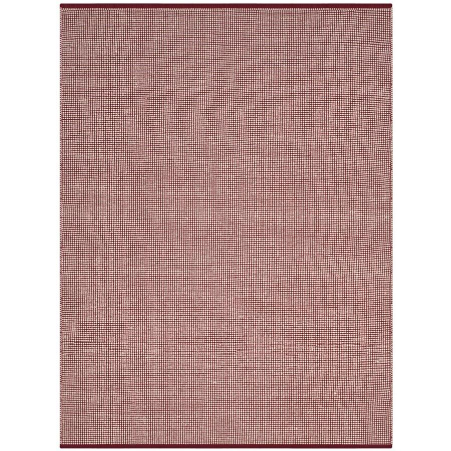 Safavieh Montauk Hither Ivory/Red Indoor Handcrafted Coastal Throw Rug (Common: 3 x 5; Actual: 3-ft W x 5-ft L)