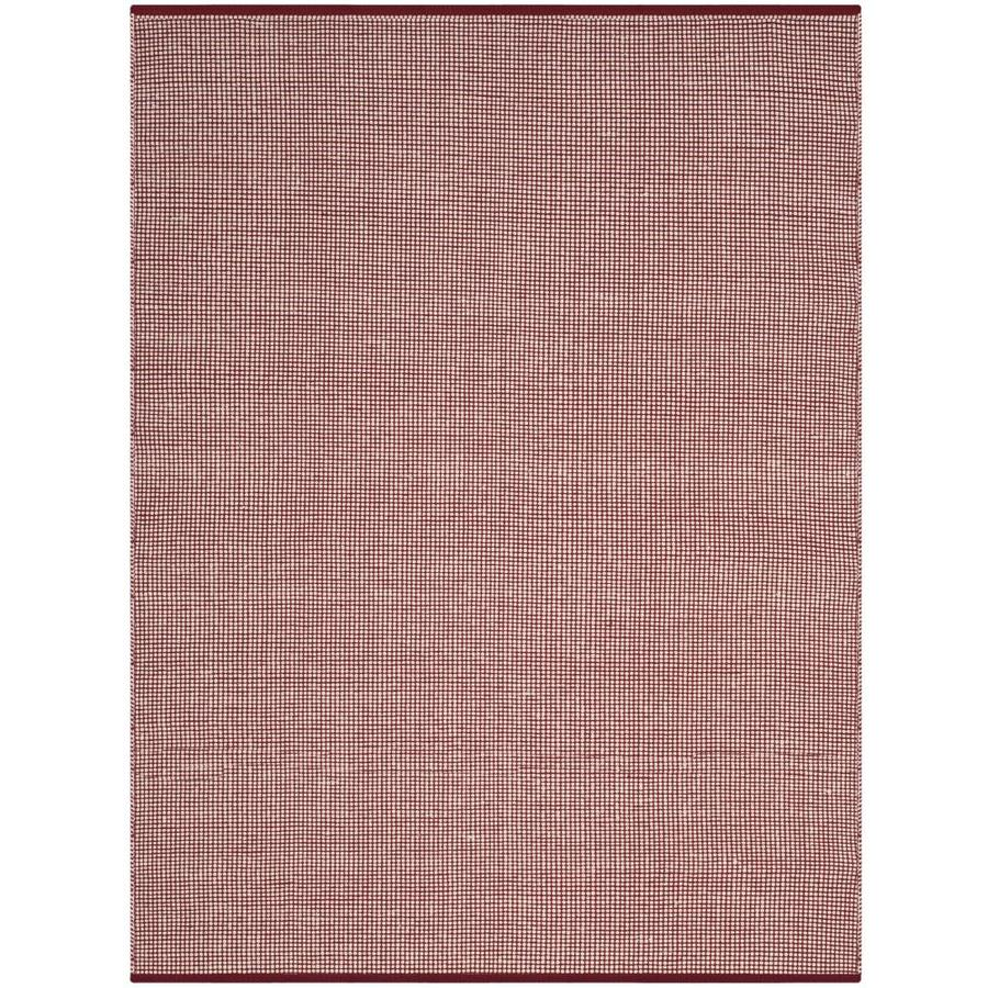 Safavieh Montauk Hither Ivory/Red Indoor Handcrafted Coastal Area Rug (Common: 4 x 6; Actual: 4-ft W x 6-ft L)