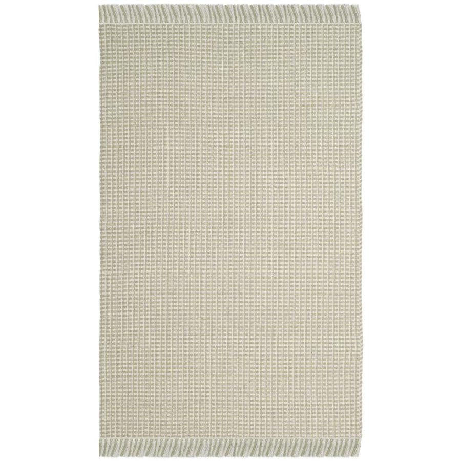 Safavieh Montauk Noosa Ivory/Green Indoor Handcrafted Coastal Throw Rug (Common: 3 x 5; Actual: 3-ft W x 5-ft L)