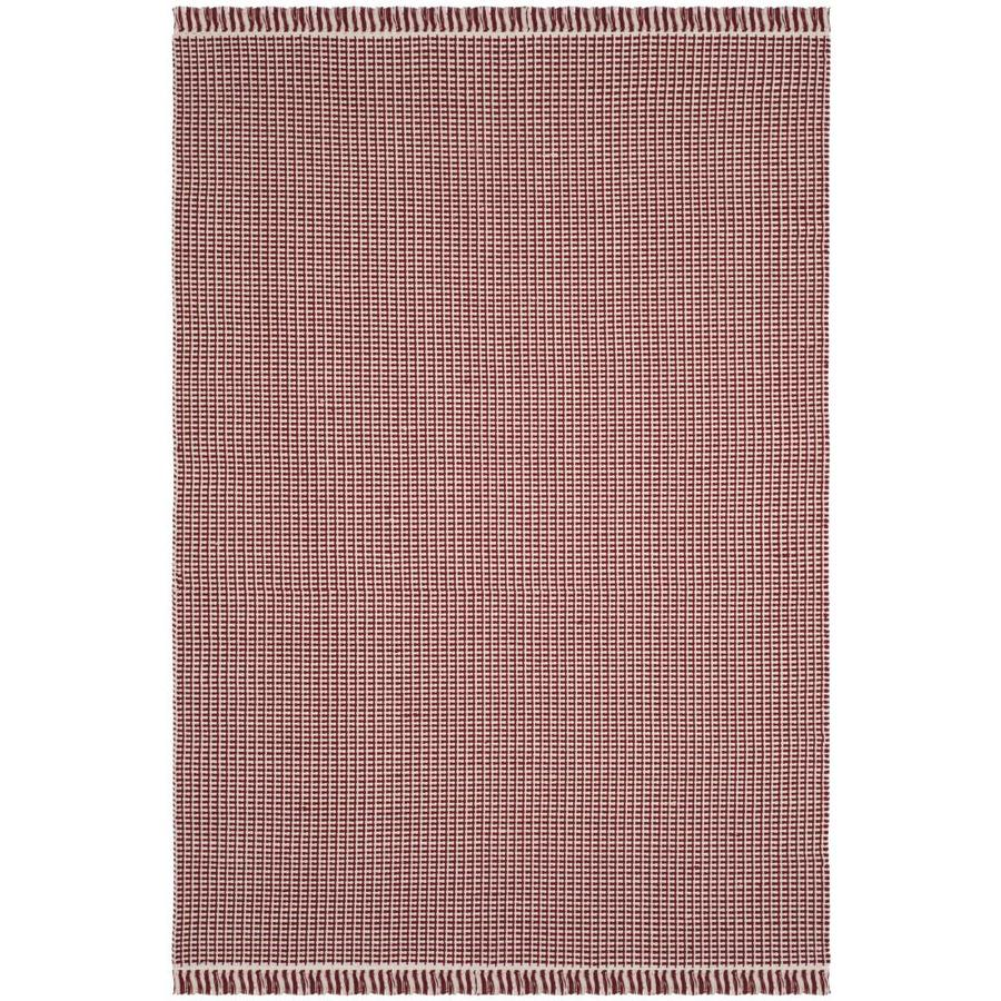 Safavieh Montauk Noosa Ivory/Red Rectangular Indoor Handcrafted Coastal Area Rug (Common: 4 x 6; Actual: 4-ft W x 6-ft L)