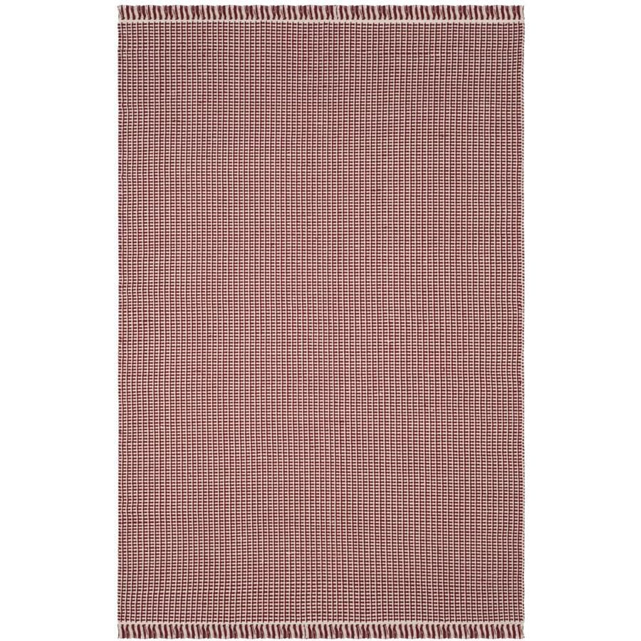 Safavieh Montauk Noosa Ivory/Red Indoor Handcrafted Coastal Area Rug (Common: 6 x 9; Actual: 6-ft W x 9-ft L)