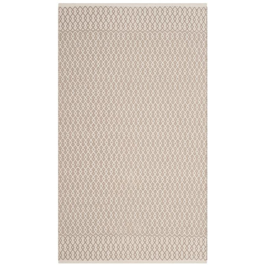 Safavieh Montauk Mandalay Ivory/Gray Indoor Handcrafted Coastal Throw Rug (Common: 3 x 5; Actual: 3-ft W x 5-ft L)