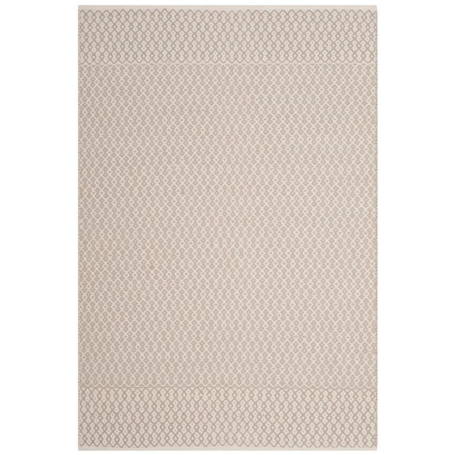 Safavieh Montauk Mandalay Ivory/Gray Indoor Handcrafted Coastal Area Rug (Common: 4 x 6; Actual: 4-ft W x 6-ft L)