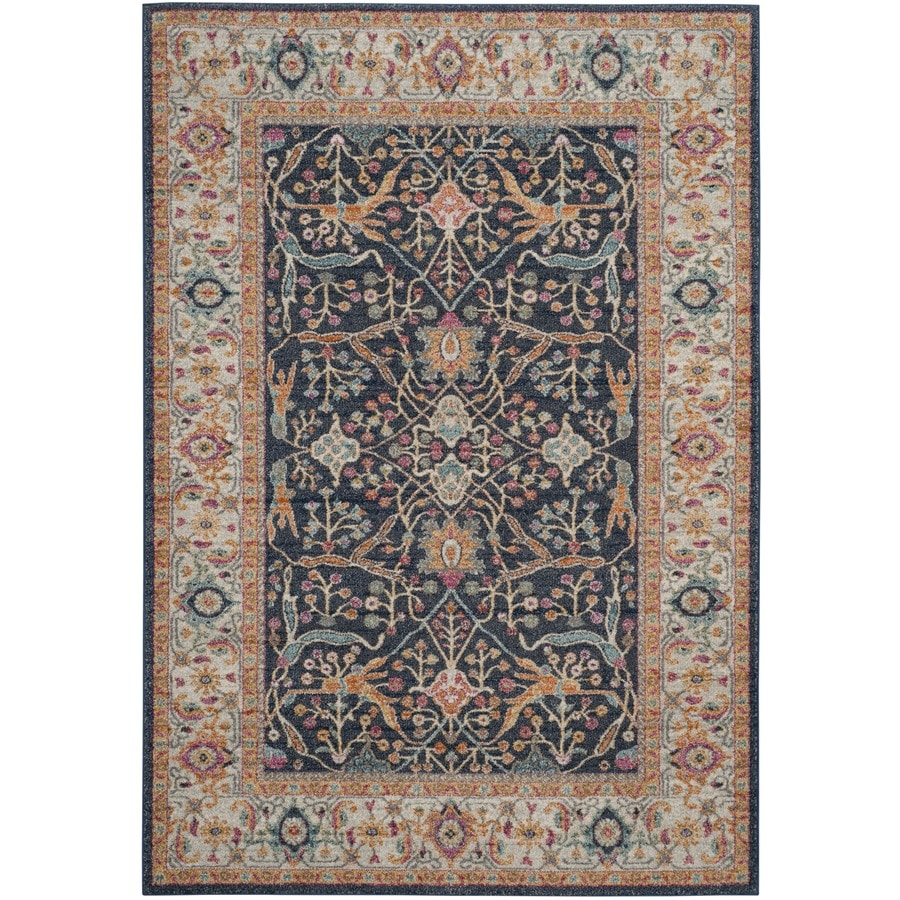 Safavieh Madison Toila Navy/Creme Indoor Oriental Area Rug (Common: 4 x 6; Actual: 4-ft W x 6-ft L)
