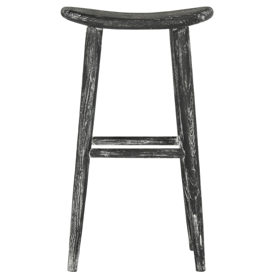 Safavieh Colton Coastal Black/White Bar Stool