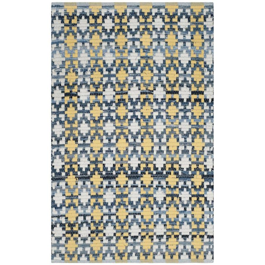 Safavieh Montauk Bondi Gold Indoor Handcrafted Coastal Throw Rug (Common: 3 x 4; Actual: 2.5-ft W x 4-ft L)
