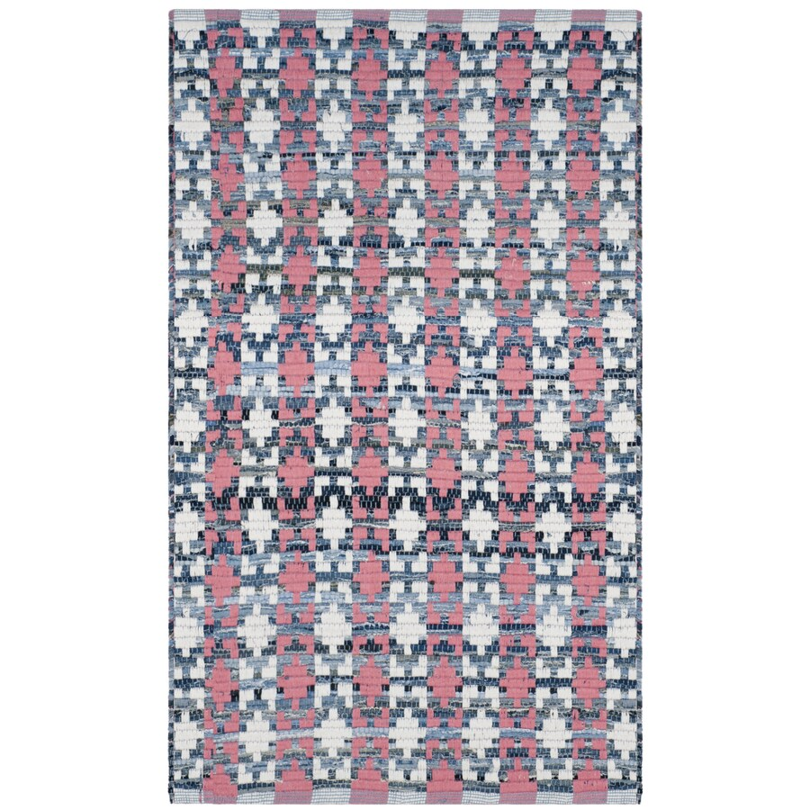 Safavieh Montauk Bondi Coral Indoor Handcrafted Coastal Throw Rug (Common: 3 x 4; Actual: 2.5-ft W x 4-ft L)