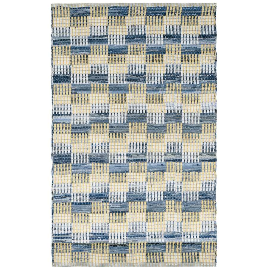 Safavieh Montauk Malibu Gold Indoor Handcrafted Coastal Throw Rug (Common: 3 x 4; Actual: 2.5-ft W x 4-ft L)