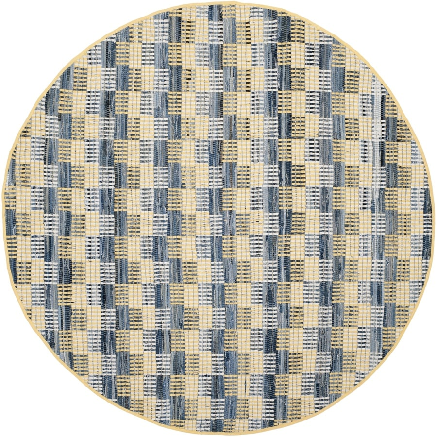 Safavieh Montauk Malibu Gold Round Indoor Handcrafted Coastal Area Rug (Common: 6 x 6; Actual: 6-ft W x 6-ft L x 6-ft dia)