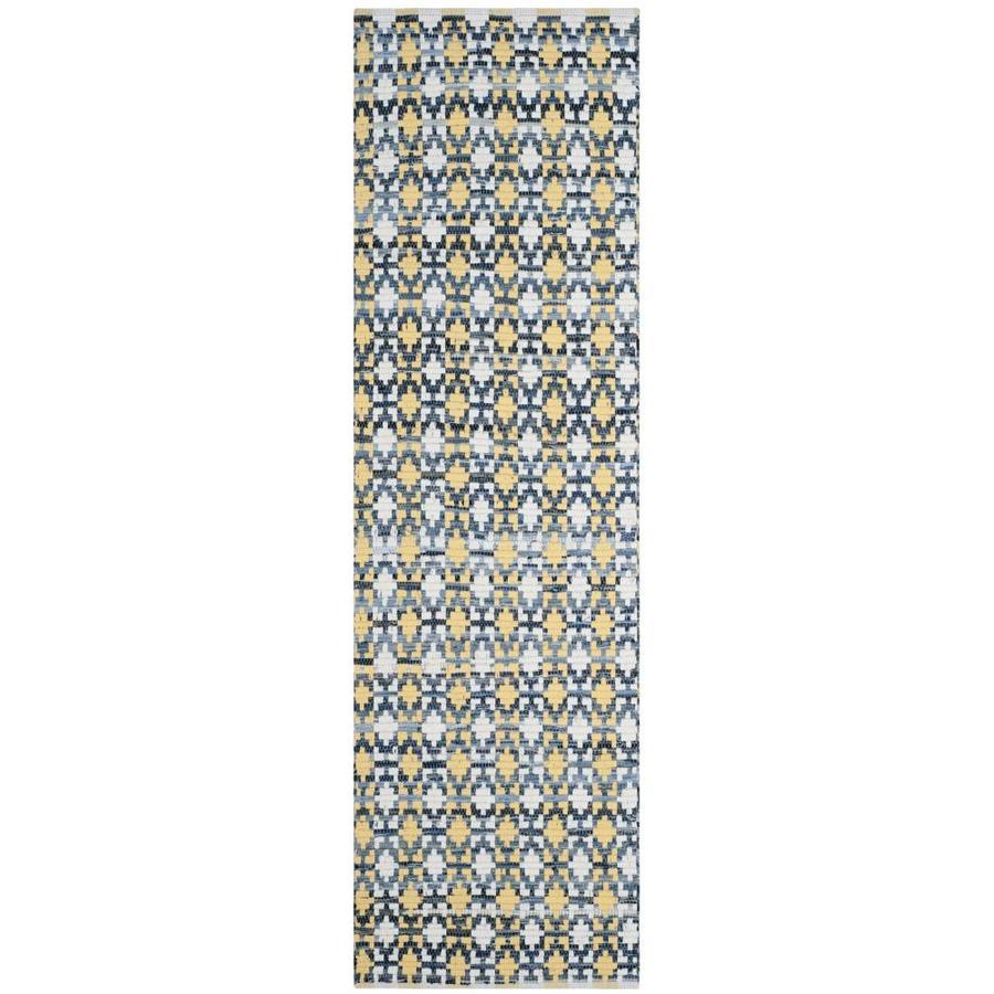 Safavieh Montauk Bondi Gold Indoor Handcrafted Coastal Runner (Common: 2 x 8; Actual: 2.3-ft W x 8-ft L)