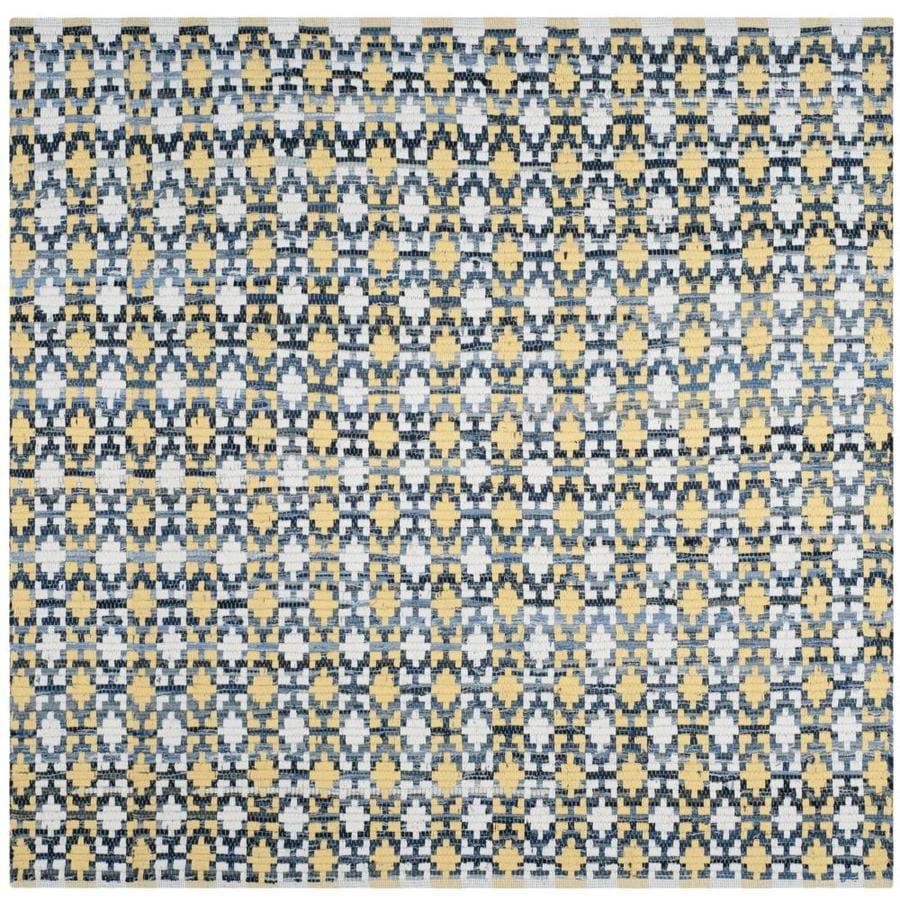Safavieh Montauk Bondi Gold Square Indoor Handcrafted Coastal Area Rug (Common: 4 x 4; Actual: 4-ft W x 4-ft L)