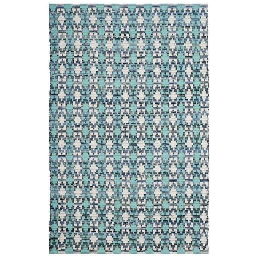 Safavieh Montauk Bondi Turquoise Indoor Handcrafted Coastal Area Rug (Common: 4 x 6; Actual: 4-ft W x 6-ft L)