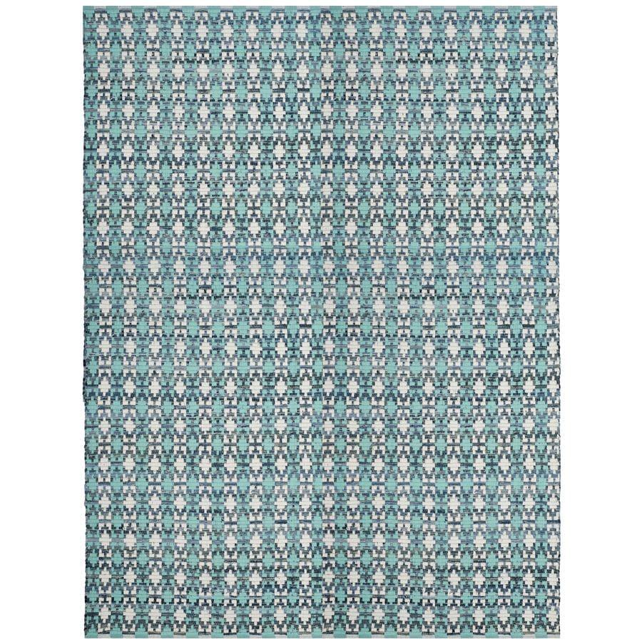 Safavieh Montauk Bondi Turquoise/Multi Rectangular Indoor Handcrafted Coastal Area Rug (Common: 9 x 12; Actual: 9-ft W x 12-ft L)