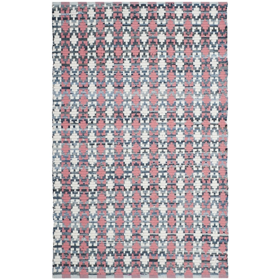 Safavieh Montauk Bondi Coral Indoor Handcrafted Coastal Area Rug (Common: 4 x 6; Actual: 4-ft W x 6-ft L)