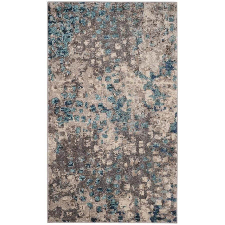 Safavieh Monaco Gogh Gray/Light Blue Rectangular Indoor Machine-Made Area Rug (Common: 4 x 5; Actual: 4-ft W x 5.6-ft L)