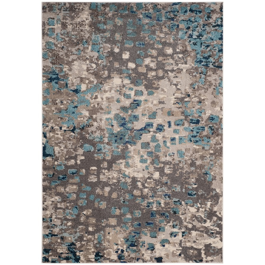 Safavieh Monaco Gogh Gray/Light Blue Indoor Area Rug (Common: 5 x 8; Actual: 5.1-ft W x 7.6-ft L)