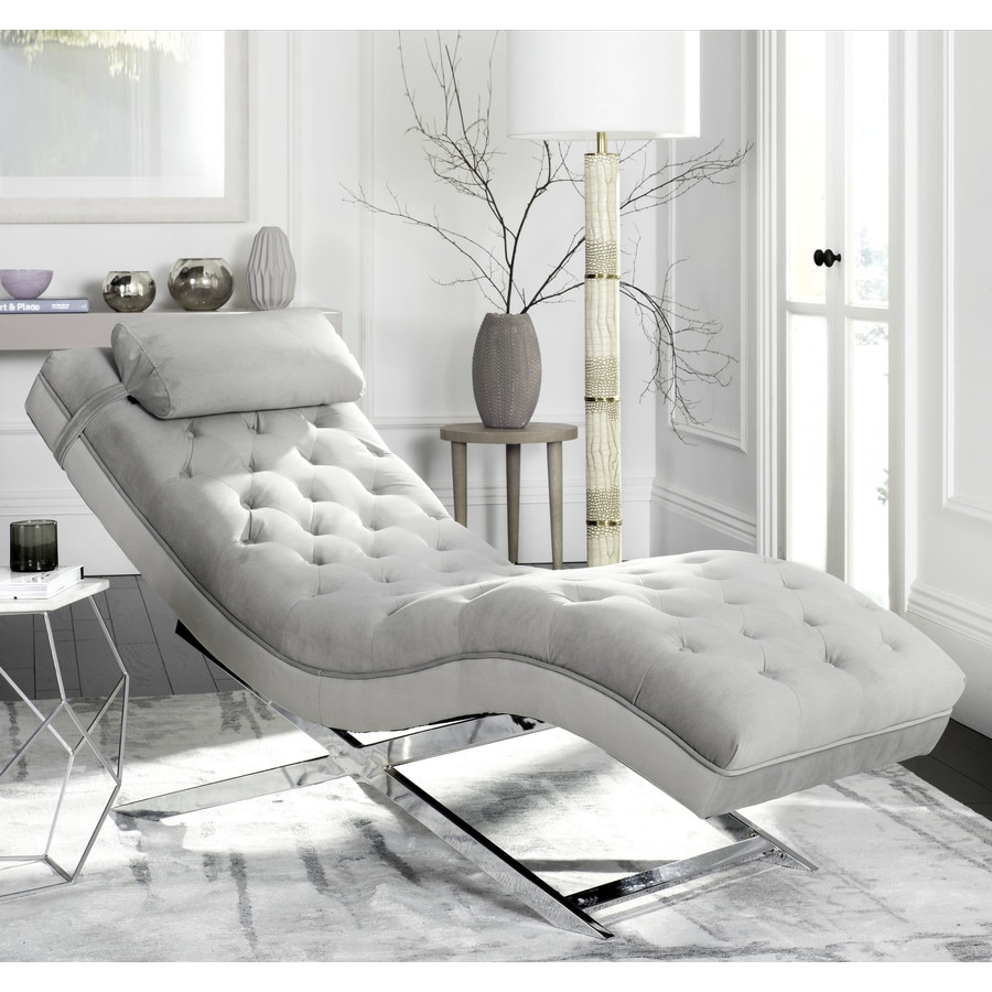 Shop Safavieh Monroe Modern Gray Chaise Lounge at Lowes.com