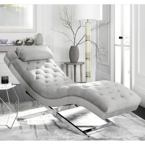 Safavieh Monroe Modern Gray Chaise Lounge at Lowes.com