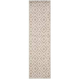 Safavieh Amsterdam Huron Ivory/Gray Indoor Lodge Runner (Common: 2 x 8; Actual: 2.3-ft W x 8-ft L)