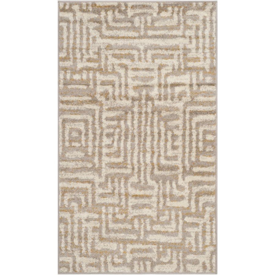 Safavieh Amsterdam Huron Ivory/Beige Indoor Lodge Throw Rug (Common: 3 x 5; Actual: 3-ft W x 5-ft L)