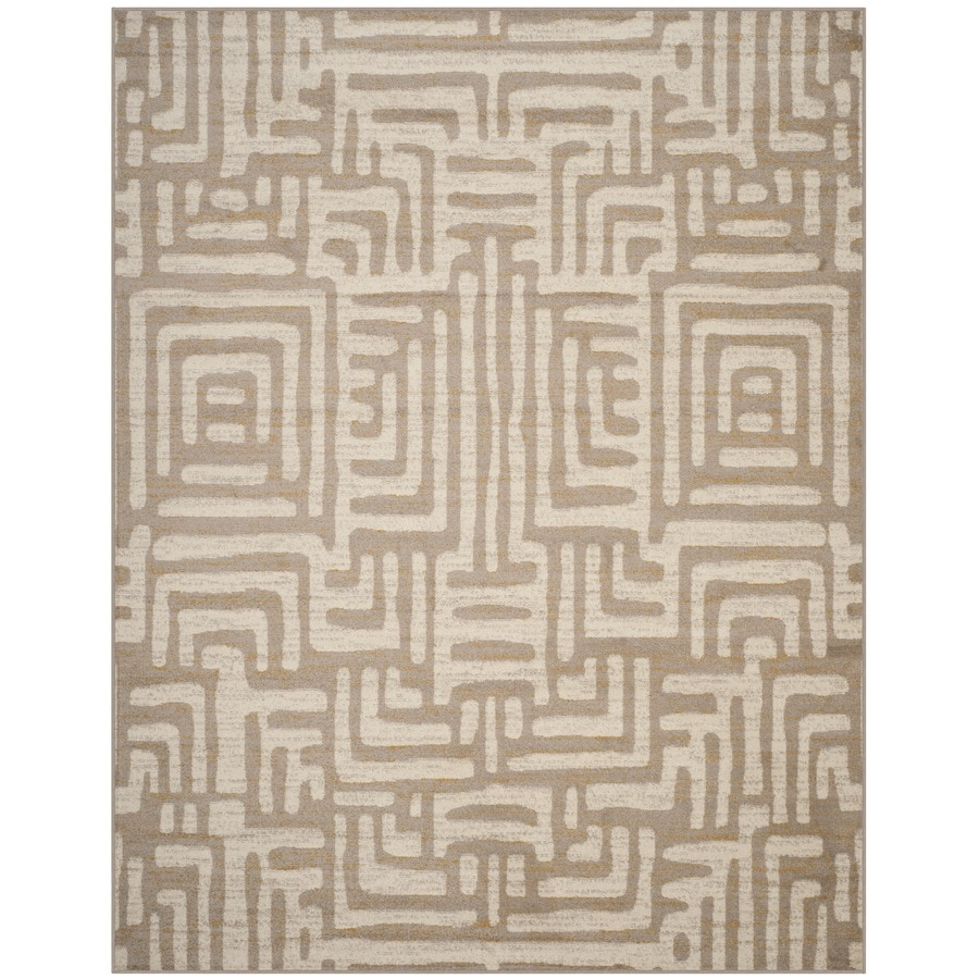 Safavieh Amsterdam Huron Ivory/Beige Indoor Lodge Area Rug (Common: 8 x 10; Actual: 8-ft W x 10-ft L)