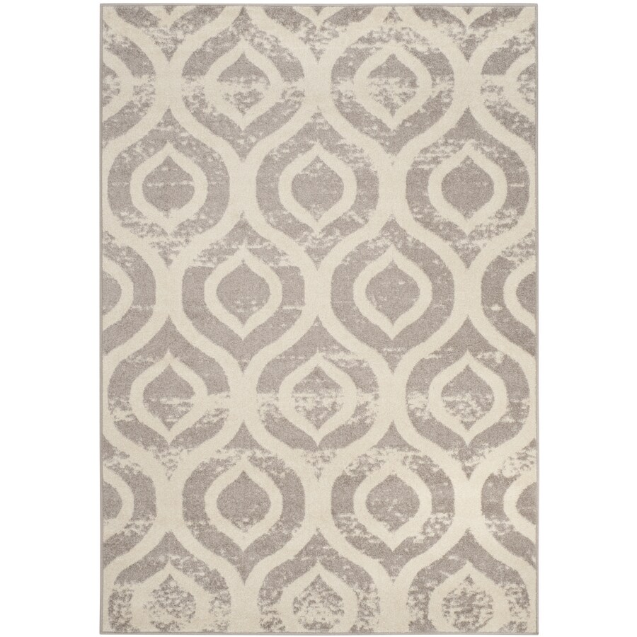 Safavieh Amsterdam Huron Ivory/Gray Indoor Lodge Area Rug (Common: 5 x 8; Actual: 5.1-ft W x 7.5-ft L)