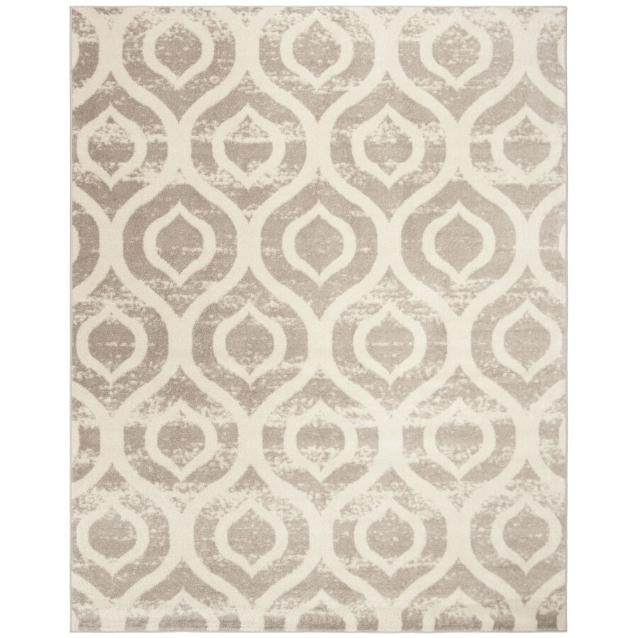 Safavieh Amsterdam Huron Ivory/Gray Indoor Lodge Area Rug (Common: 7 x 9; Actual: 6.7-ft W x 9.2-ft L)