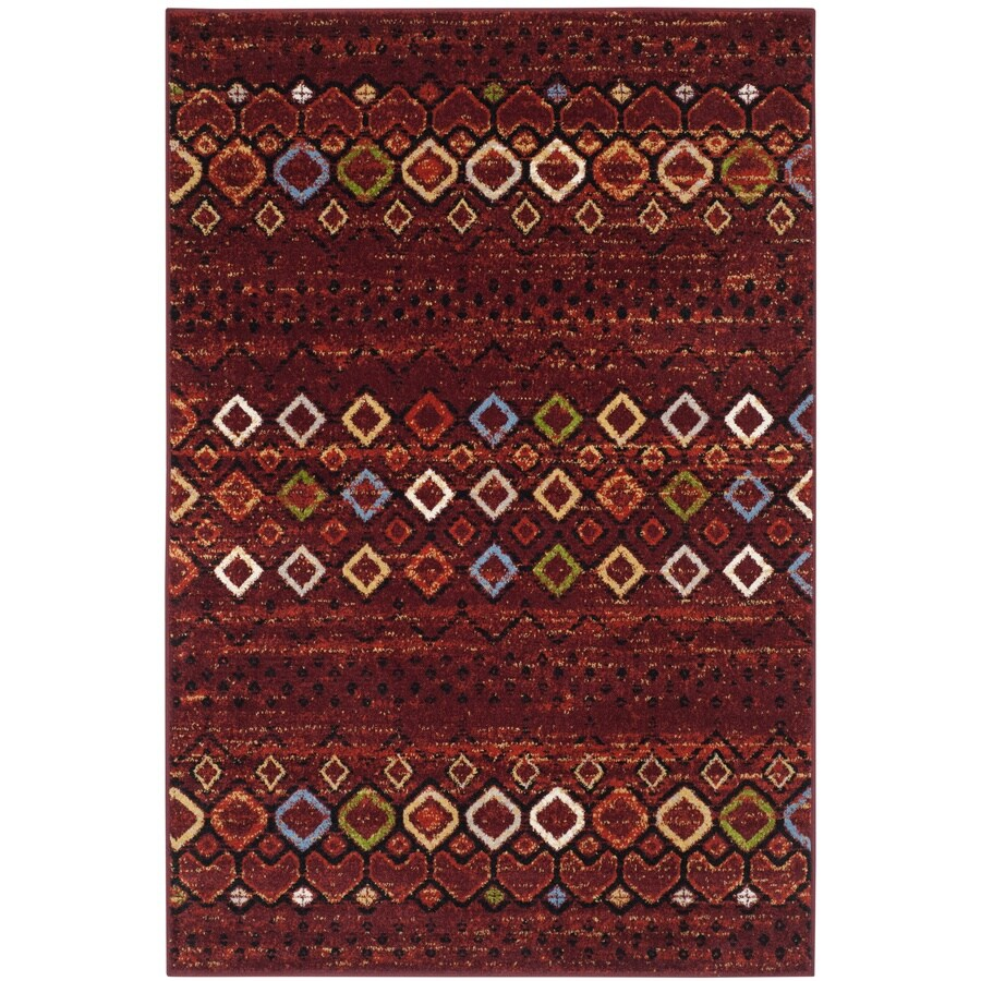 Safavieh Amsterdam Huron Terracotta/Multi Rectangular Indoor Machine-made Lodge Area Rug (Common: 4 x 6; Actual: 4-ft W x 6-ft)