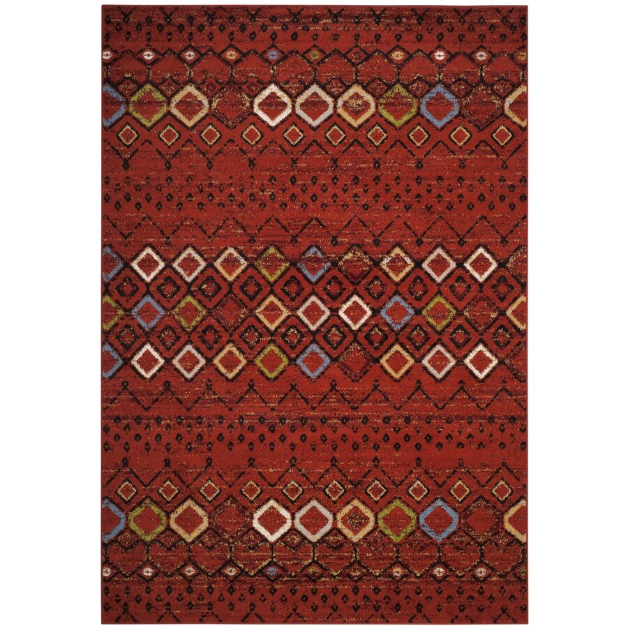 Safavieh Amsterdam Huron Terracotta Indoor Lodge Area Rug (Common: 7 x 9; Actual: 6.7-ft W x 9.2-ft L)
