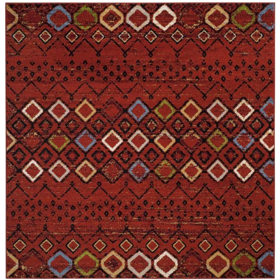 Safavieh Amsterdam Huron Terracotta Square Indoor Lodge Area Rug (Common: 7 x 7; Actual: 6.7-ft W x 6.6-ft L)