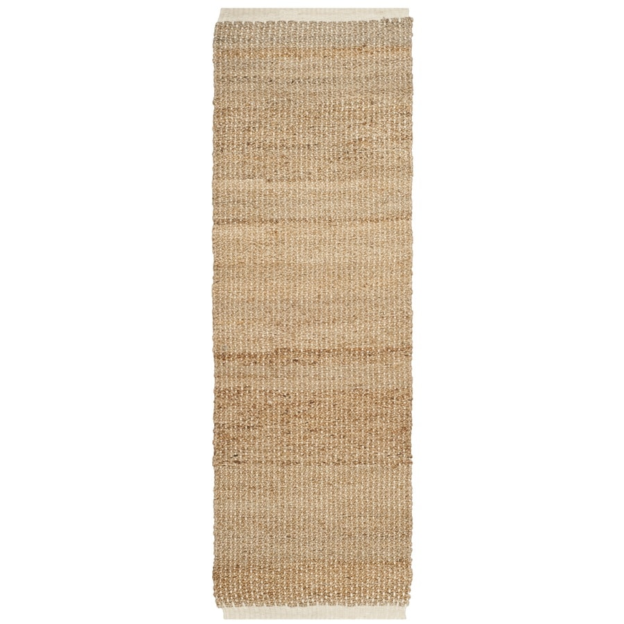 Safavieh Natural Fiber Antiqua Ivory/Natural Rectangular Indoor Handcrafted Coastal Runner (Common: 2 x 8; Actual: 2.5-ft W x 8-ft)