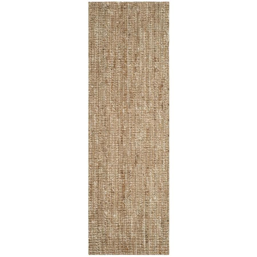 Safavieh Natural Fiber Bellport Natural/Ivory Indoor Handcrafted Coastal Runner (Common: 2 x 12; Actual: 2.5-ft W x 12-ft L)