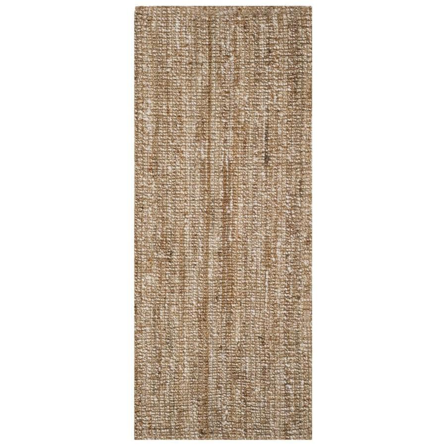 Safavieh Natural Fiber Bellport Natural/Ivory Indoor Handcrafted Coastal Runner (Common: 2 x 6; Actual: 2.5-ft W x 6-ft L)