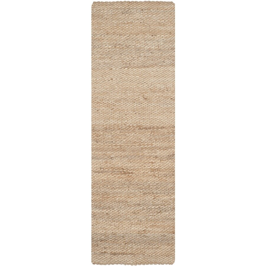 Safavieh Natural Fiber Amity Natural Indoor Handcrafted Coastal Runner (Common: 2 x 6; Actual: 2.5-ft W x 6-ft L)