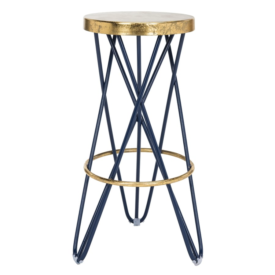 Safavieh Lorna Navy Gold Bar Stool At Lowes Com