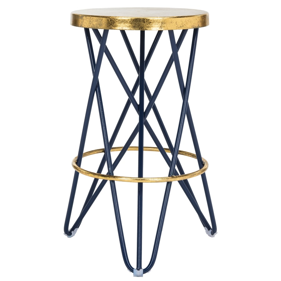 Safavieh Lorna Navy Gold Counter Stool At Lowes Com