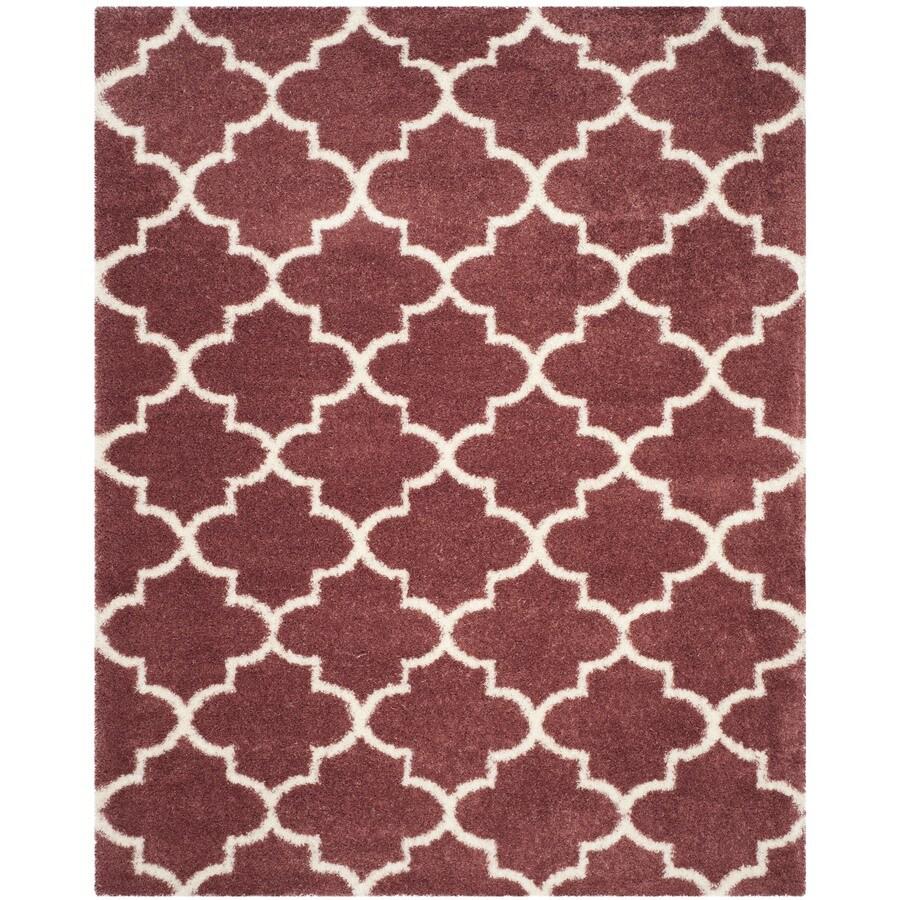 Safavieh Montreal Mirabel Shag Rose/Ivory Rectangular Indoor Area Rug (Common: 8 x 10; Actual: 8-ft W x 10-ft L)