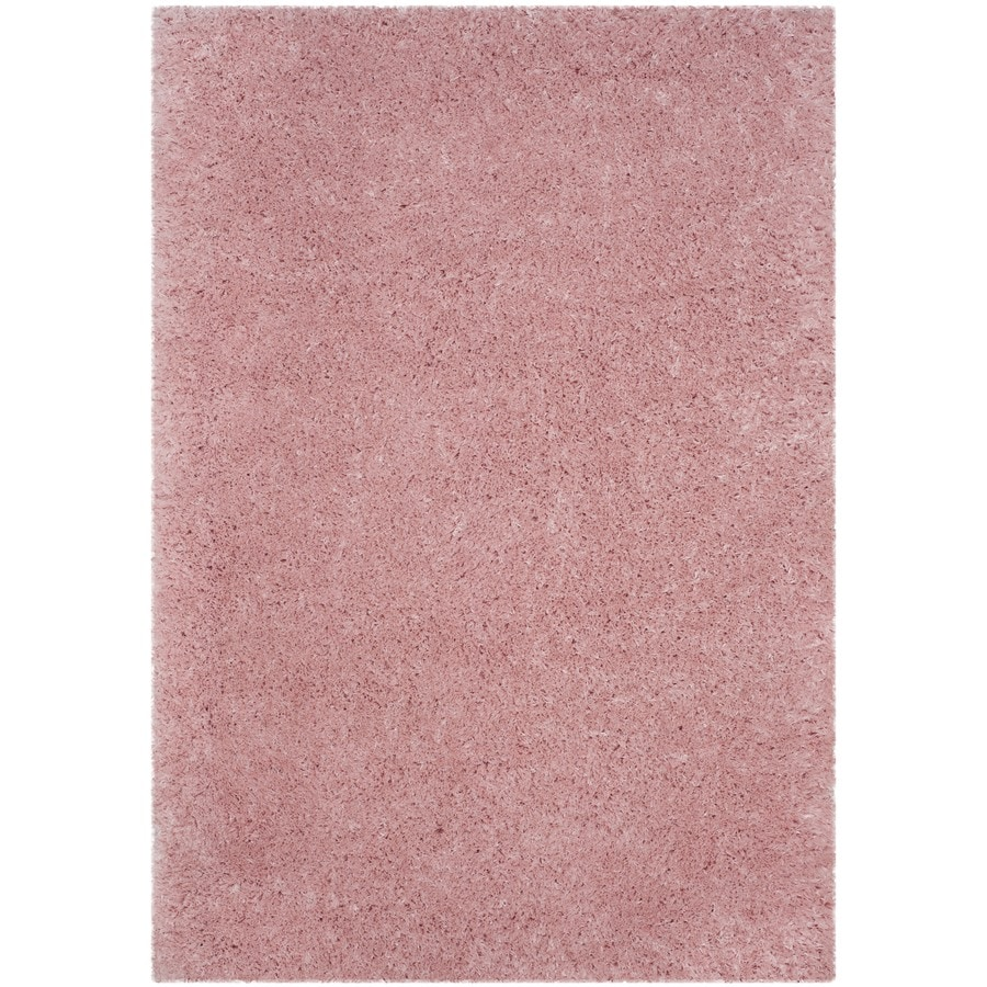 Safavieh Polar Shag Light Pink Rectangular Indoor Machine-made Area Rug (Common: 9 x 12; Actual: 9-ft W x 12-ft)