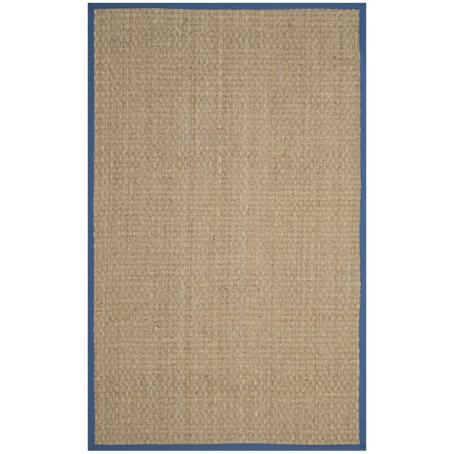 Safavieh Natural Fiber Hampton Natural/Navy Indoor Coastal Area Rug (Common: 5 x 8; Actual: 5-ft W x 8-ft L)