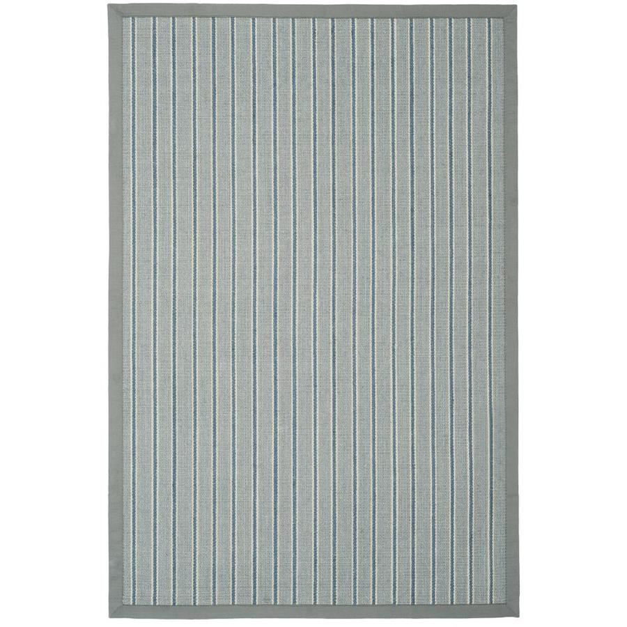 Safavieh Natural Fiber Bonaire Ivory Blue/Gray Indoor Coastal Area Rug (Common: 4 x 6; Actual: 4-ft W x 6-ft L)
