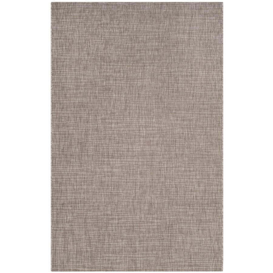 Safavieh Courtyard Acklins Light Brown Rectangular Indoor/Outdoor Machine-made Coastal Area Rug (Common: 6 x 9; Actual: 6.58-ft W x 9.5-ft L)