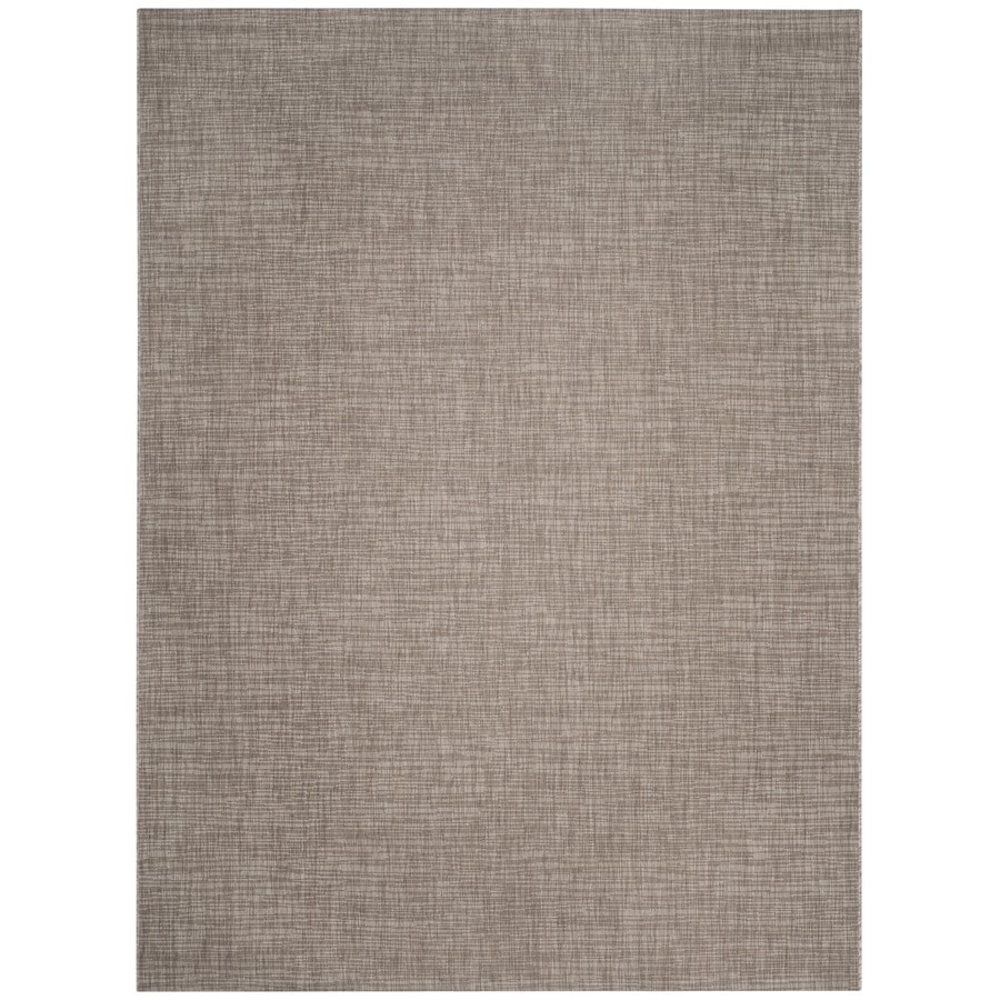 Safavieh Courtyard Acklins Light Brown Rectangular Indoor/Outdoor Machine-made Coastal Area Rug (Common: 8 x 11; Actual: 8-ft W x 11-ft L)